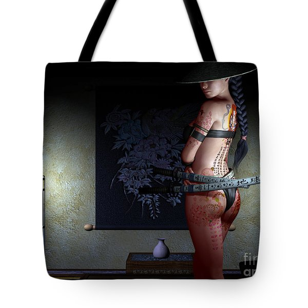 Never Vulnerable Tote Bag by Alexander Butler