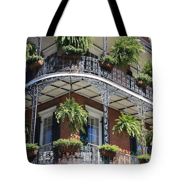 New Orleans Balcony Tote Bag by Carol Groenen