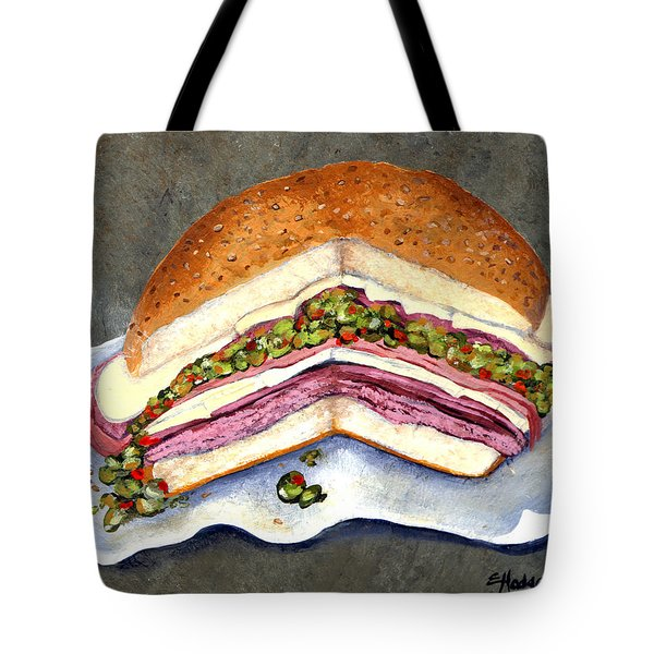 New Orleans Muffaletta Tote Bag by Elaine Hodges