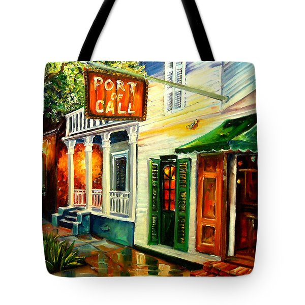 New Orleans Port Of Call Tote Bag by Diane Millsap