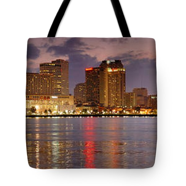 New Orleans Skyline at DUSK Tote Bag by Jon Holiday