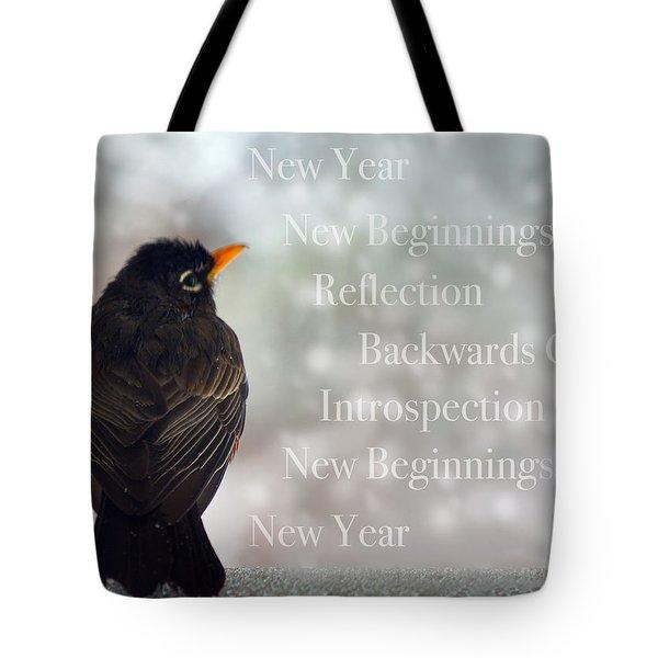 New Years Card Tote Bag by Lisa Knechtel