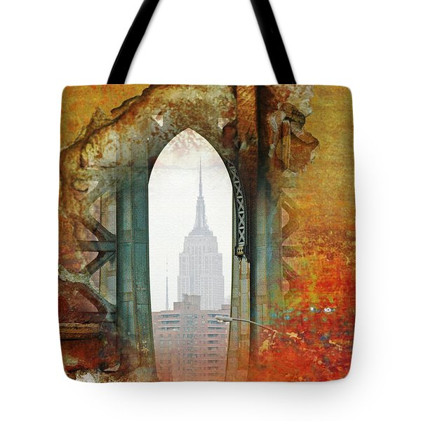 New York Abstract Print Tote Bag by AdSpice Studios