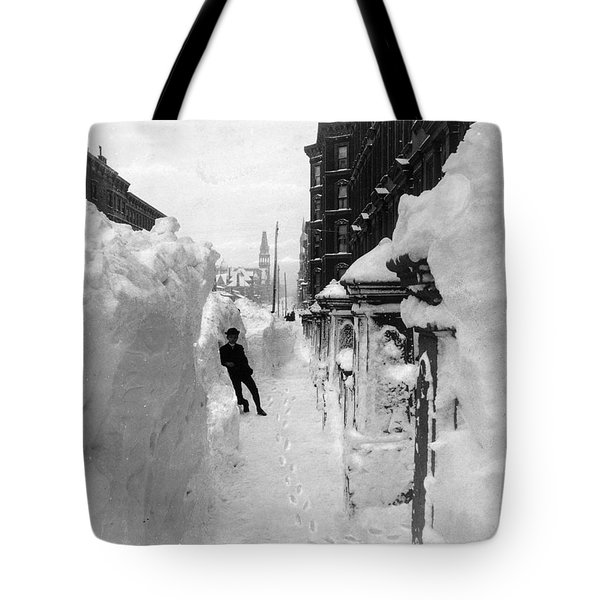 New York: Blizzard Of 1888 Tote Bag by Granger