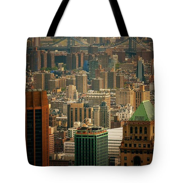New York City Buildings And Skyline Tote Bag by Vivienne Gucwa