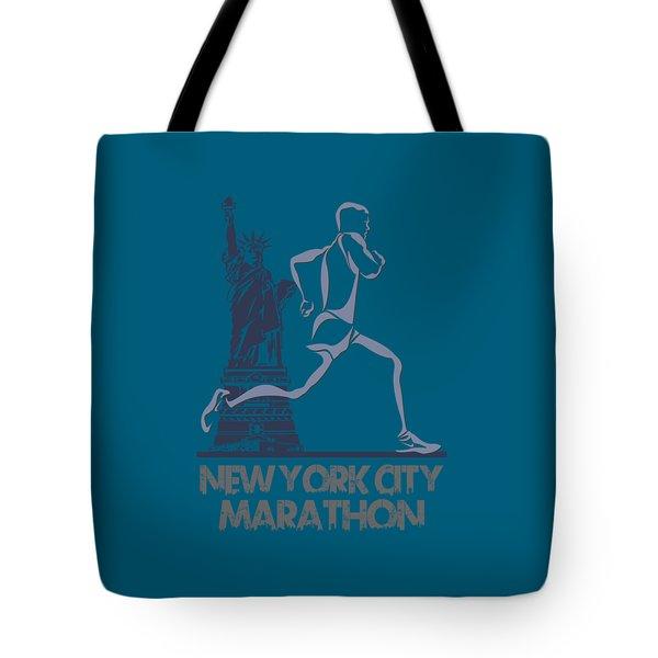 New York City Marathon3 Tote Bag by Joe Hamilton