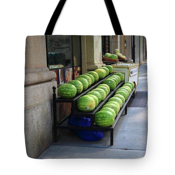 New York City Market Tote Bag by Frank Romeo