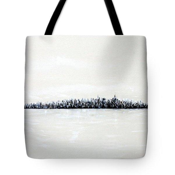New York City Skyline 48 Tote Bag by Jack Diamond