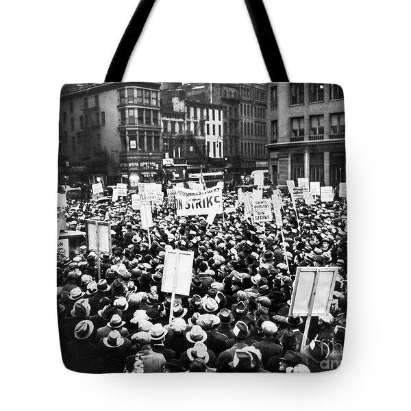 New York: Seamens Strike Tote Bag by Granger