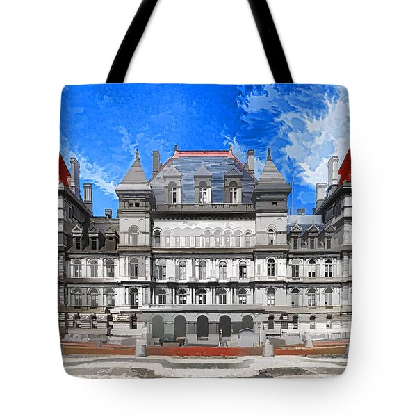 New York State Capitol Tote Bag by Lanjee Chee