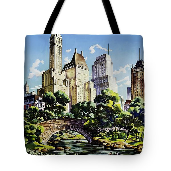 New York United Air Lines Tote Bag by Mark Rogan