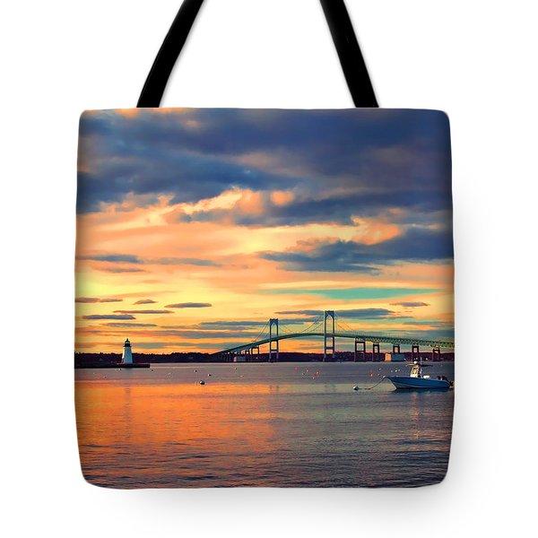Newport Gold Tote Bag by Joann Vitali