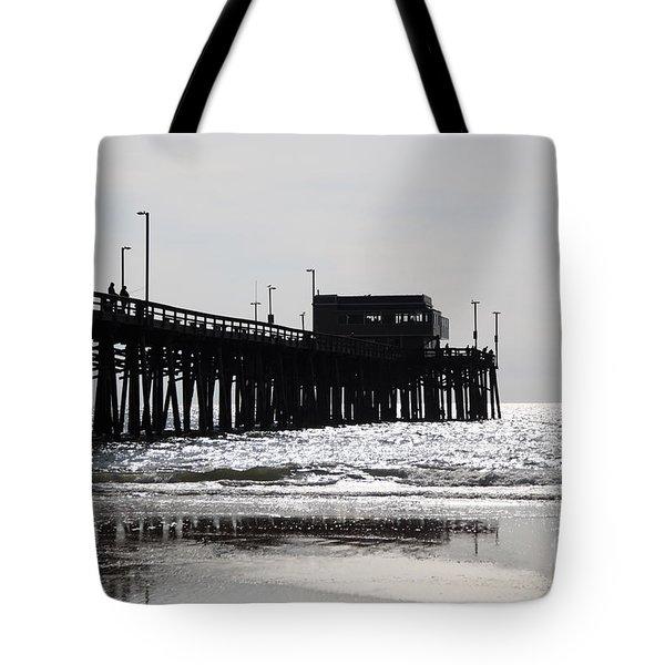 Newport Pier Tote Bag by Paul Velgos