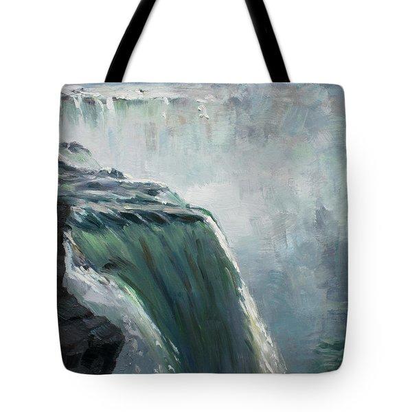 Niagara Falls Ny Tote Bag by Ylli Haruni