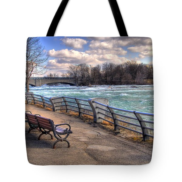 Niagara Rapids In Early Spring Tote Bag by Tammy Wetzel