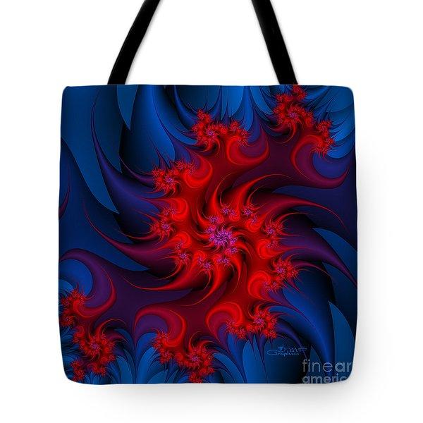 Night Fire Tote Bag by Jutta Maria Pusl