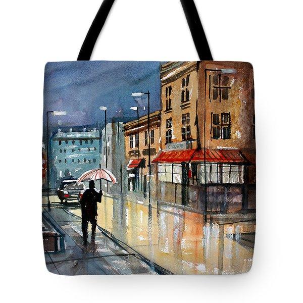 Night Lights Tote Bag by Ryan Radke