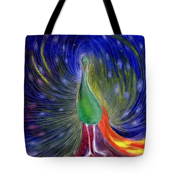 Night Of Light Tote Bag by Nancy Moniz