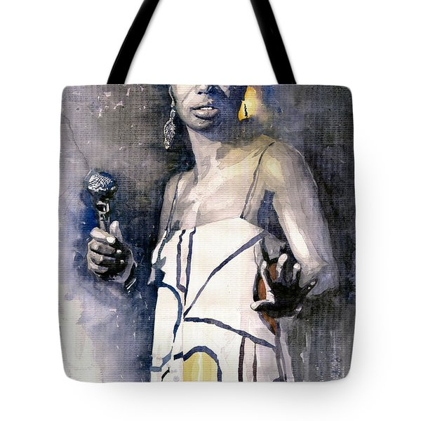 Nina Simone Tote Bag by Yuriy  Shevchuk
