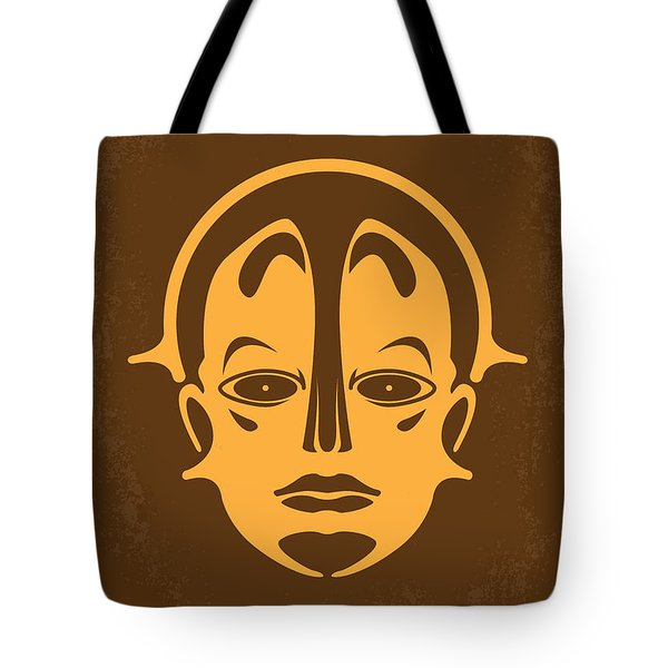 No052 My Metropolis Minimal Movie Poster Tote Bag by Chungkong Art