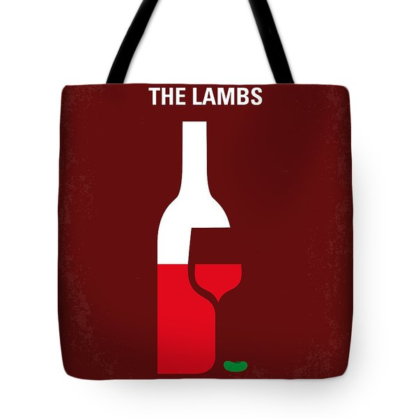 No078 My Silence of the lamb minimal movie poster Tote Bag by Chungkong Art