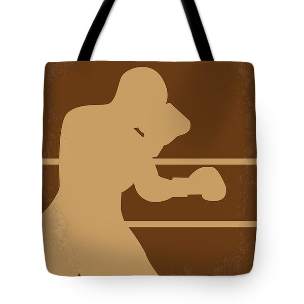 No174 My Raging Bull minimal movie poster Tote Bag by Chungkong Art