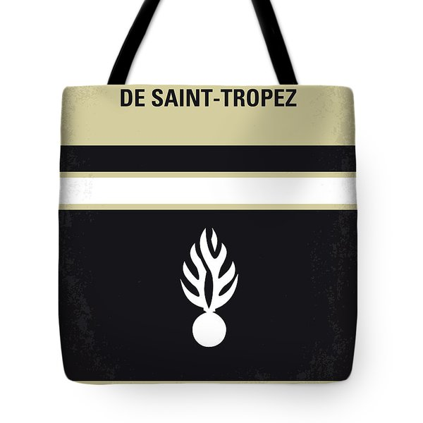 No186 My Le Gendarme de Saint-Tropez minimal movie poster Tote Bag by Chungkong Art
