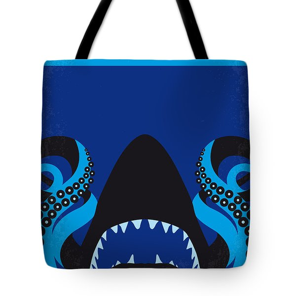No485 My Sharktopus Minimal Movie Poster Tote Bag by Chungkong Art