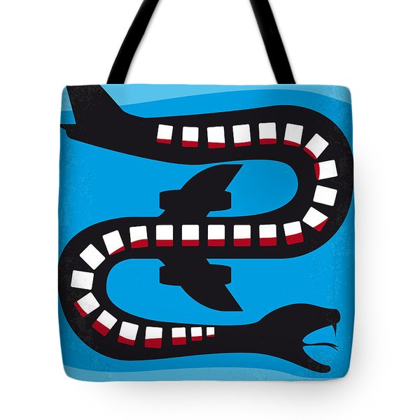No501 My Snakes On A Plane Minimal Movie Poster Tote Bag by Chungkong Art