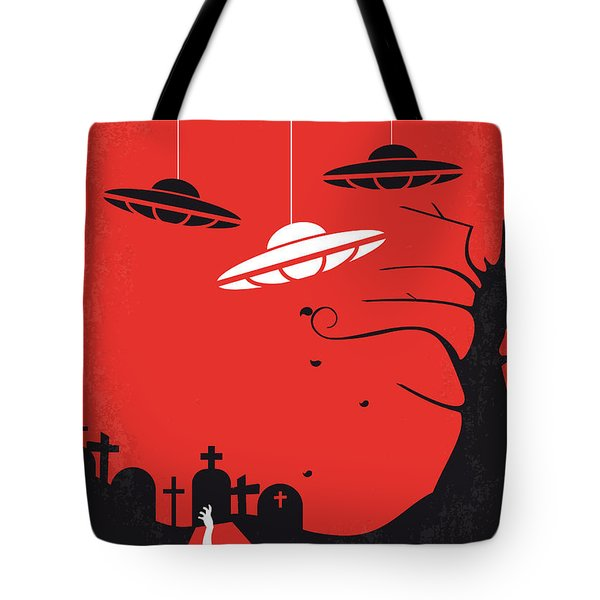 No518 My Plan 9 From Outer Space Minimal Movie Poster Tote Bag by Chungkong Art