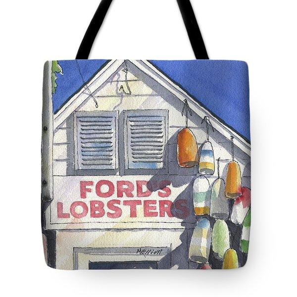 Noank Landmark Tote Bag by Marsha Elliott