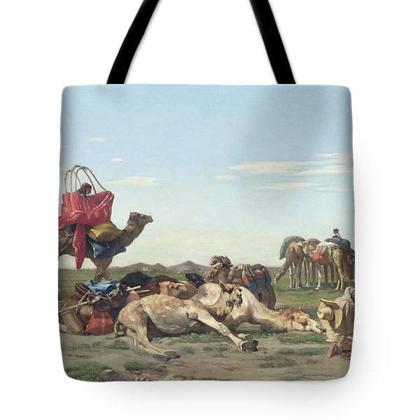 Nomads In The Desert Tote Bag by Georges Washington
