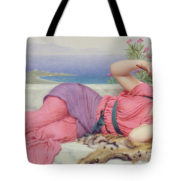 Noon Day Rest Tote Bag by John William Godward
