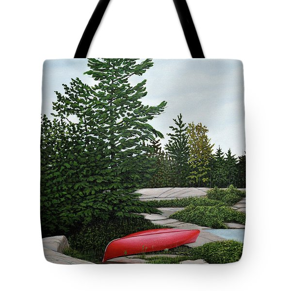North Country Canoe Tote Bag by Kenneth M  Kirsch