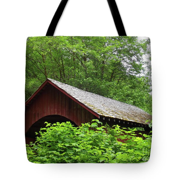 North Fork Yachats Bridge 1 Tote Bag by Methune Hively