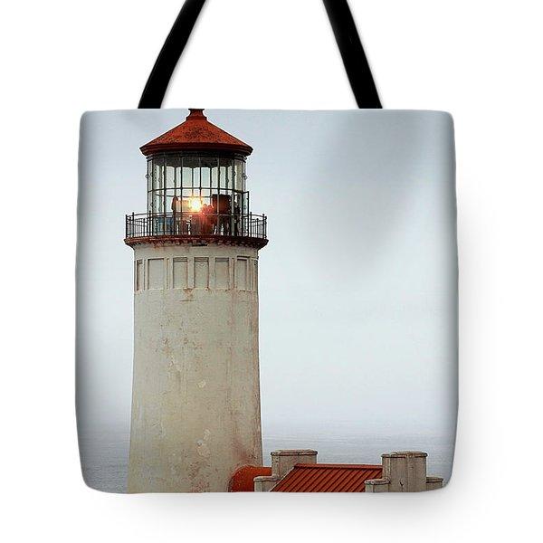 North Head Lighthouse - Ilwaco On Washington's Southwest Coast Tote Bag by Christine Till