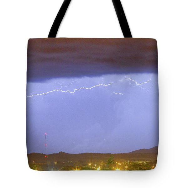 Northern Colorado Rocky Mountain Front Range Lightning Storm  Tote Bag by James BO  Insogna