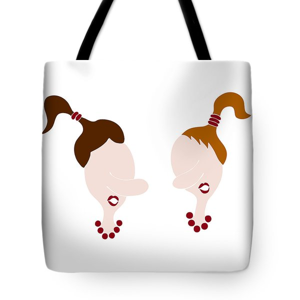 Nosy Girls Tote Bag by Frank Tschakert