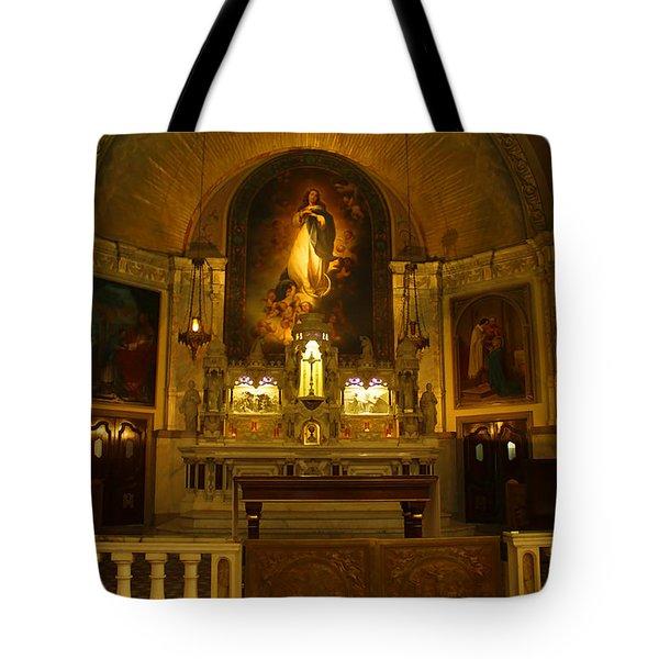 Notre-dame-de-bon-secours Chapel Tote Bag by Deborah Benoit