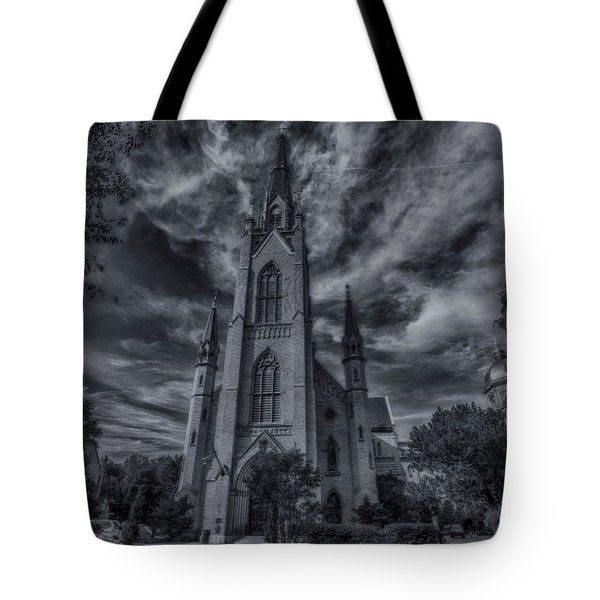 Notre Dame University Church Tote Bag by David Haskett