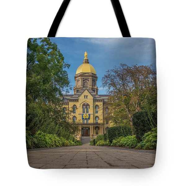 Notre Dame University Q Tote Bag by David Haskett