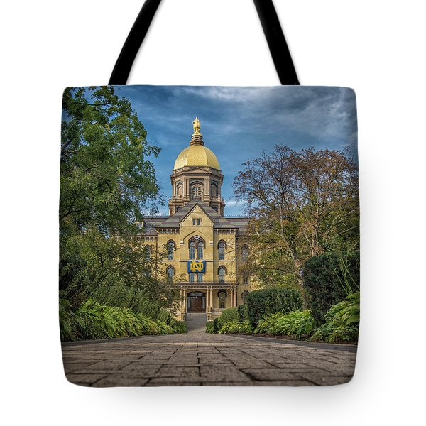 Notre Dame University Q1 Tote Bag by David Haskett