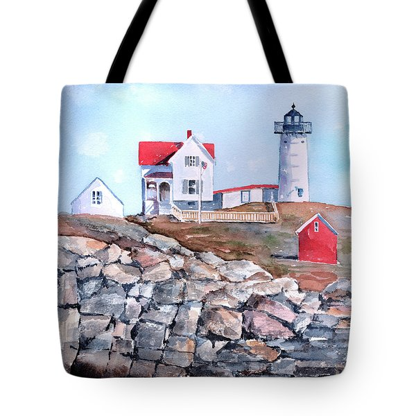 Nubble Lighthouse - Maine Tote Bag by Arline Wagner