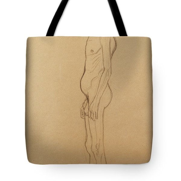 Nude Man Tote Bag by Gustav Klimt