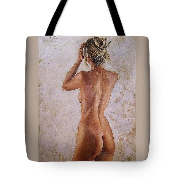 Nude Tote Bag by Natalia Tejera