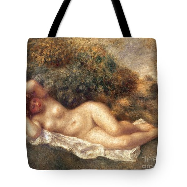 Nude Tote Bag by Pierre Auguste Renoir