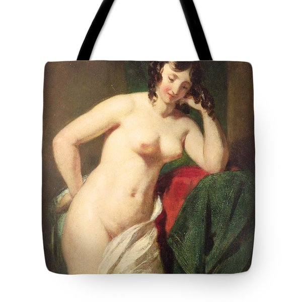 Nude Tote Bag by William Etty