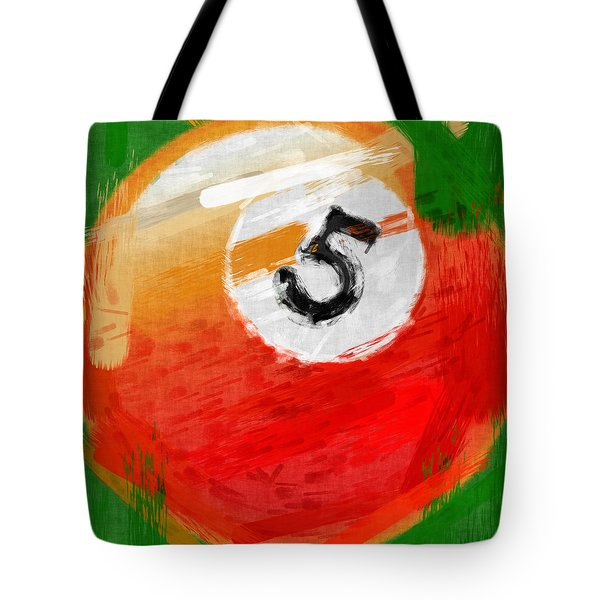 Number Five Billiards Ball Abstract Tote Bag by David G Paul