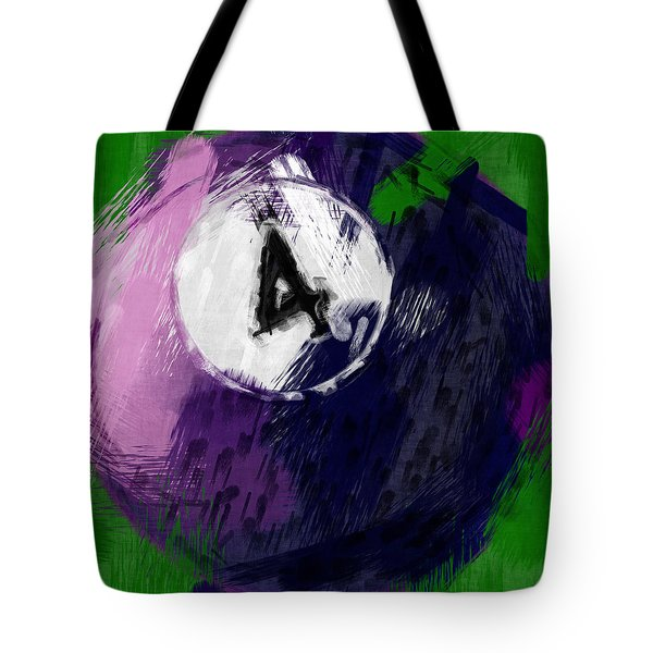 Number Four Billiards Ball Abstract Tote Bag by David G Paul