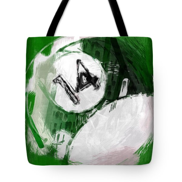 Number Fourteen Billiards Ball Abstract Tote Bag by David G Paul